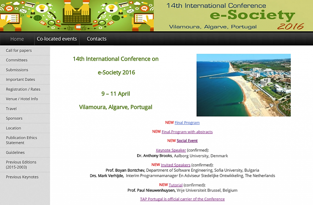 Website E-Society 2016